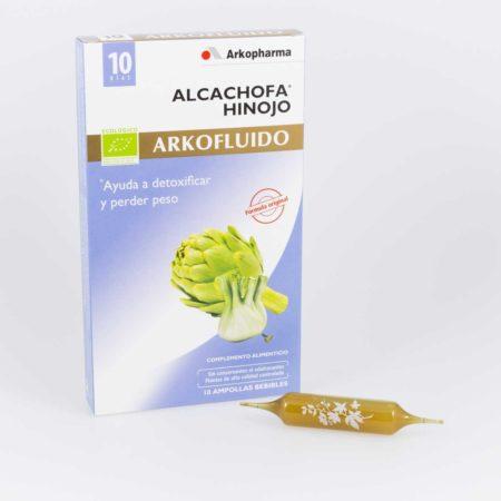 Arkofluido alcachofa - hinojo 10 ampollas bebibles 399857