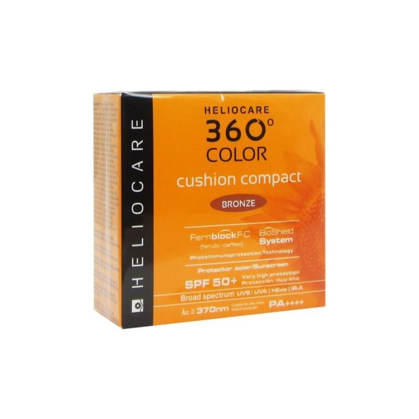 HELIOCARE 360º COLOR CUSHION COMPACT SPF 50+ PROTECTOR SOLAR BRONZE 185812