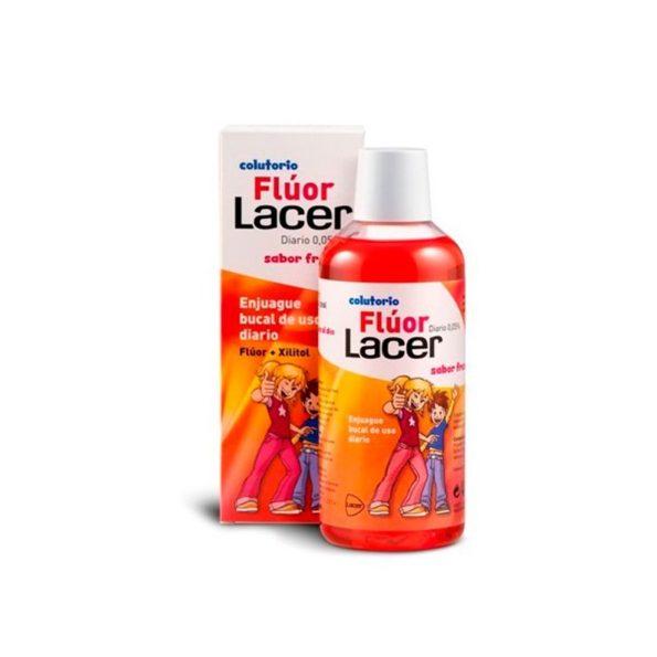 Lacer Colutorio Fluor diario fresa 500 ml jovenes y adolescentes 238576