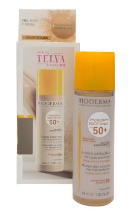 Photoderm Nude Touch SPF 50+ color dorado Protección solar Bioderma 182917