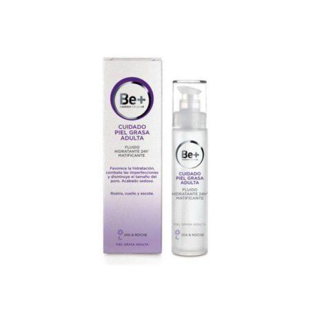 Be+ cuidado piel grasa adulta fluido hidratante 24h matifica 168522