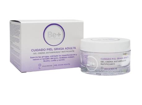 Be+ cuidado piel grasa adulta gel crema antiarrugas matific 168523