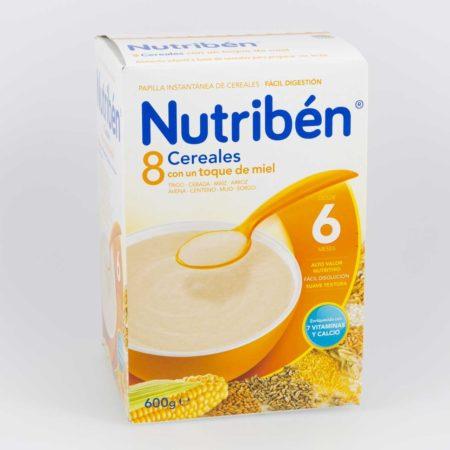 Nutriben 8 cereales y miel 600 g 209825