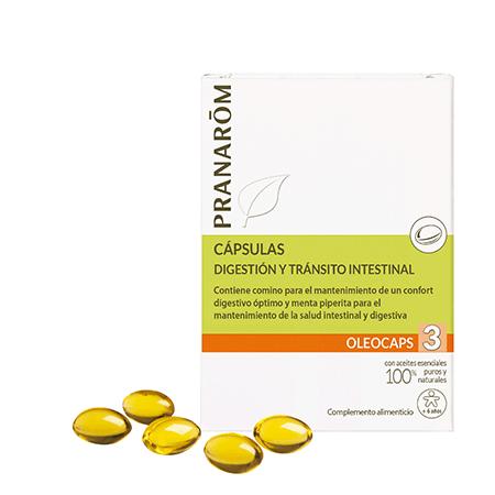 Oleocaps 3 digestión y tránsito intestinal Pranarom 233