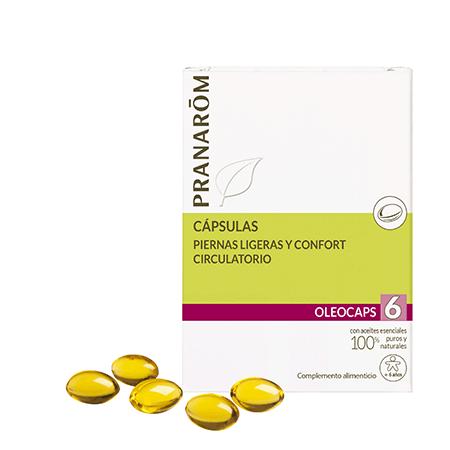 Oleocaps 6 piernas ligeras y confort circulatorio Pranarom 530264