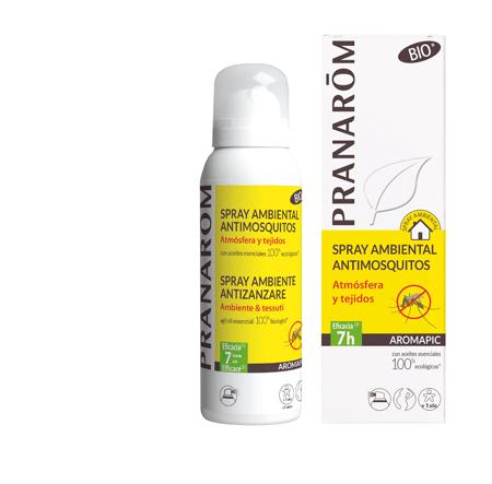 Spray anti-mosquitos atmósfera y tejidos Pranarom 530389