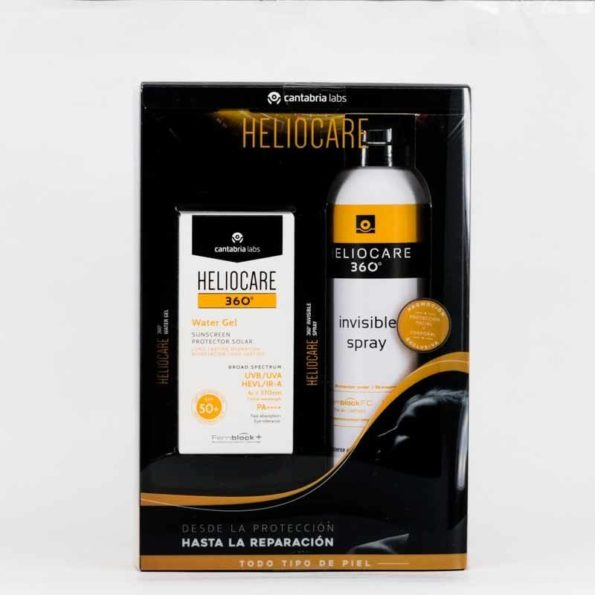 Pack Heliocare 360 water gel 50ml + spray invisible 200ml 436080