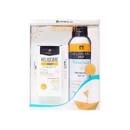 Pack heliocare 360 pediatrics mineral 50ml + spray transparente 200ml 436081