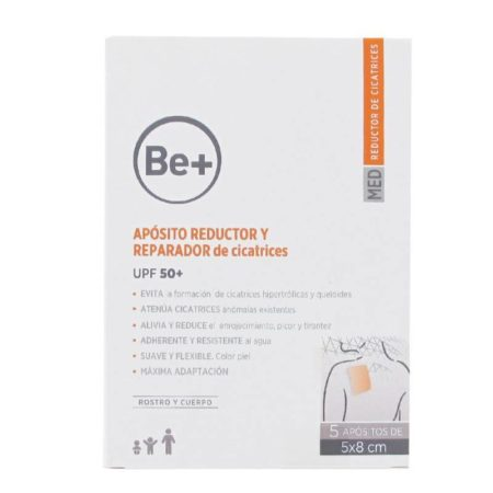 Be+ apósito reductor y reparador de cicatrices upf 50+ 5 apositos 187015