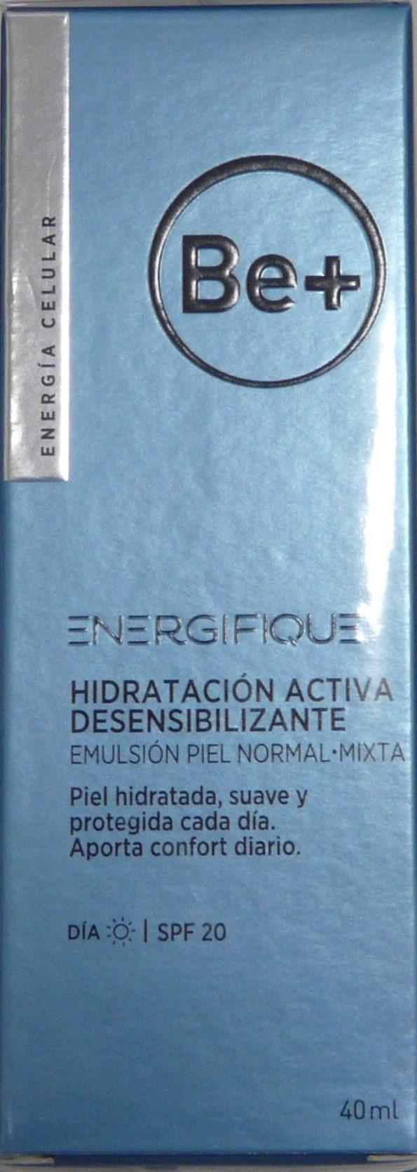 Be+ energifique hidratación activa desensibilizante spf20 piel normal-mixta 40ml 192528