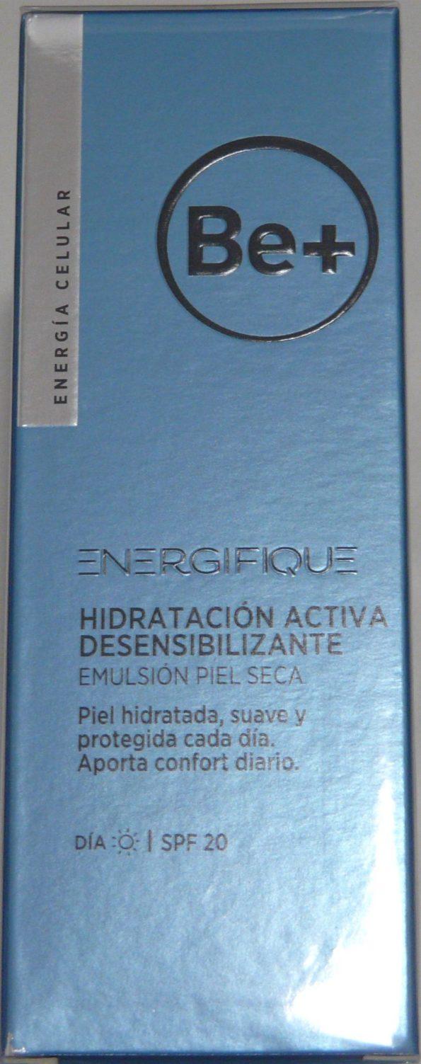 Be+ energifique emulsión hidratación activa desensibilizante piel seca spf20 40ml 192527