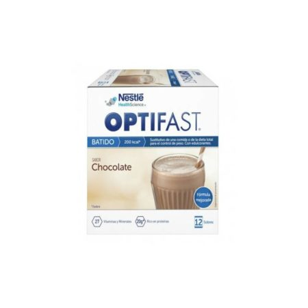 Optifast batido chocolate 53g 12 sobres 217059