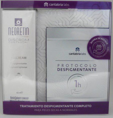 Pack Neoretin gel crema spf50 40 ml + Protocolo despigmentante 1h 467
