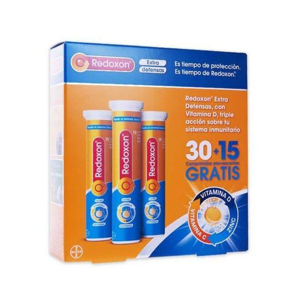 Redoxon Extra defensas 30 comprimidos + 15 comprimidos gratis 473
