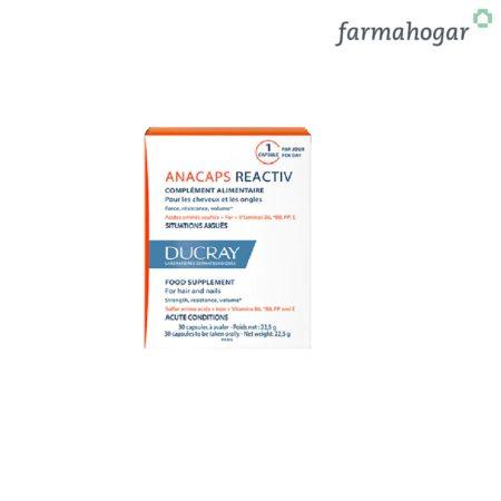 Ducray - Anacaps Reactive Cabello, Cuero Cabelludo y Uñas 30 Caps 383687