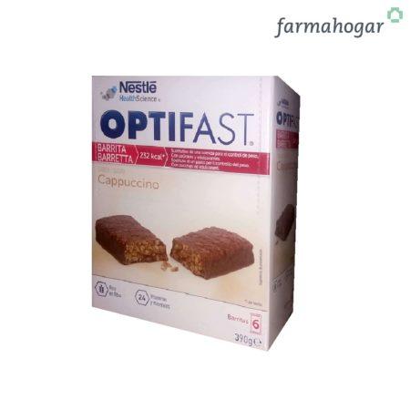Complemento alimenticio Barritas sabor Capuccino 6 U Optifast 311201