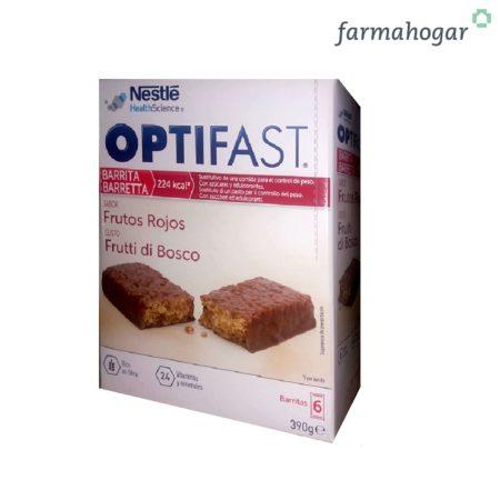 Complemento alimenticio Barritas sabor Frutos Rojos 6 U Optifast 214022
