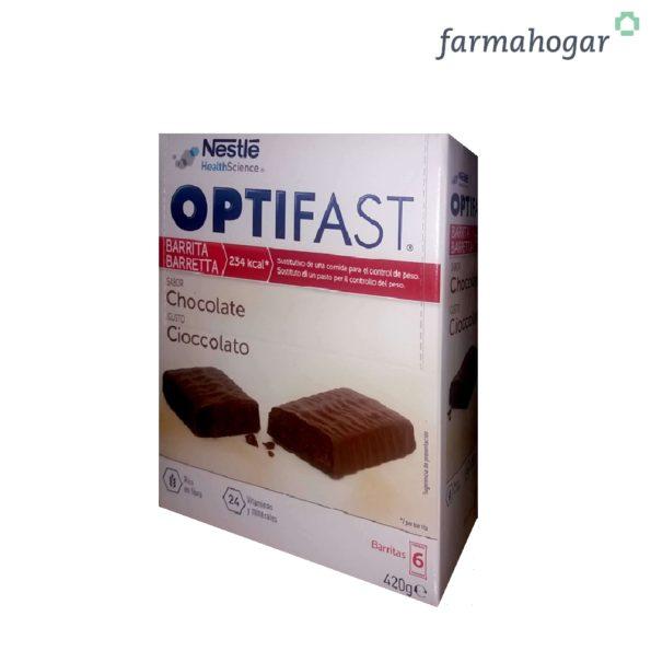 Complemento alimenticio Barritas Sabor Chocolate 6 U Optifast 214021