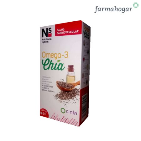 Complemento Alimenticio Omega 3 Chía 60 U NS 188457