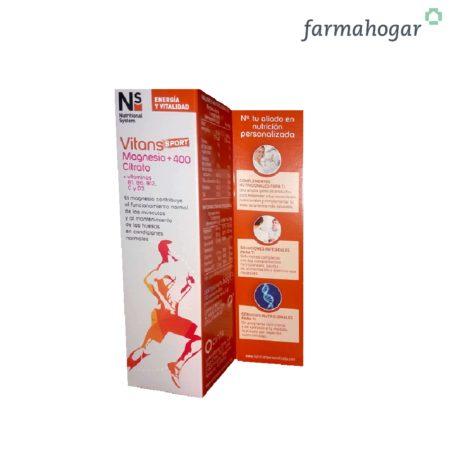 Complemento Alimenticio Vitans Sport Magnesio+ 400 Citrato 10U NS 188321
