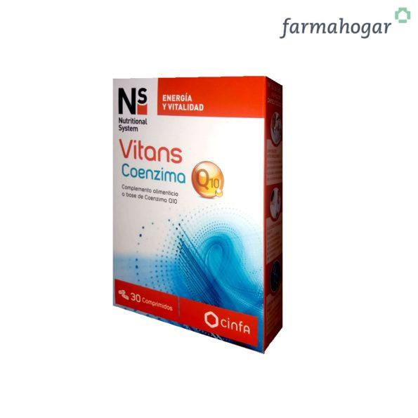 Complemento Alimenticio Vitans Coenzima Q10 30 U NS 190321