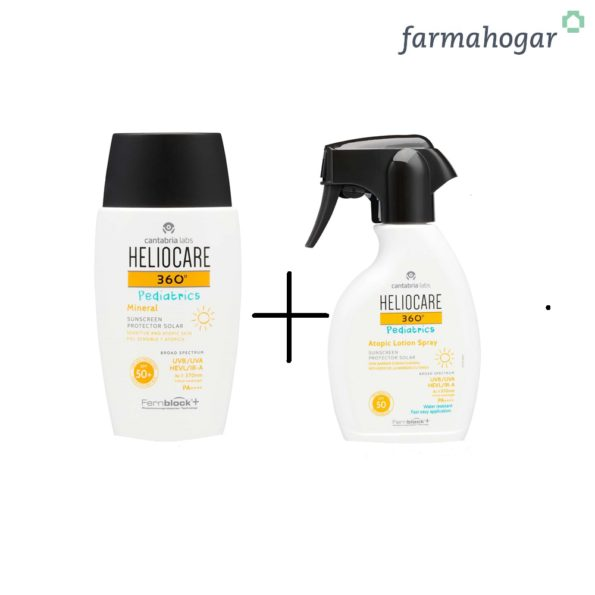 Pack Heliocare – Heliocare 360º Mineral 50ml + Heliocare 360º Atopic Lotion Spray 250ml