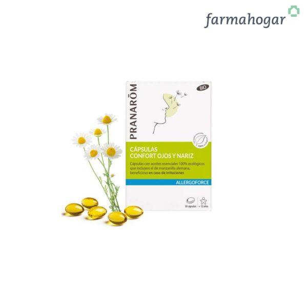 Cápsulas confort ojos y nariz Allergoforce 30 U Pranarom